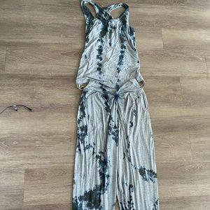 Grey + Black Tie Dye loungewear set